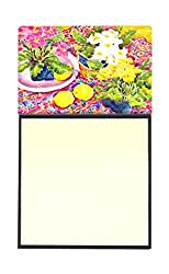 Carolines Treasures 6062SN Flower-Primroses Refillable Sticky Note Holder or Postit Note Dispenser, 3.25 by 5.5, Multicolor