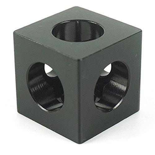 SODIAL 3D Drucker Teile 10 Stueck / Menge Openbuilds V-Schlitz drei Ecke Cube Ecke Prisma Verbinder Einstellbare Rad Halterung