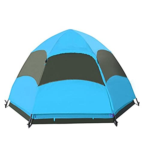 Outdoor Tents Multi - Person Space Outdoor Tents Camping Tents , 3-4 People,blue,3-4 people