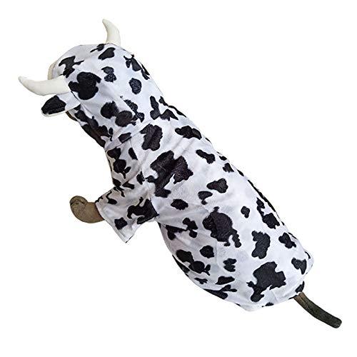 Pineocus Hunde-Kostüm, Kuh-Design, für mittelgroße und große Hunde (Kuh Kostüm Für Den Hunde)