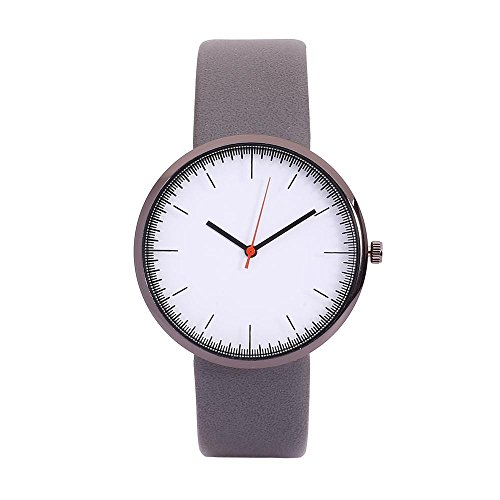 Herren Armbanduhr Männer Jungen Galliumnitrid Glas Silikon Armband Analog Quarzuhr mit Battterie 2866Grau