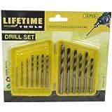 Lifetime Tools 41114 13 Forets dans boitier de Ø 1,5 à 6,5 mm