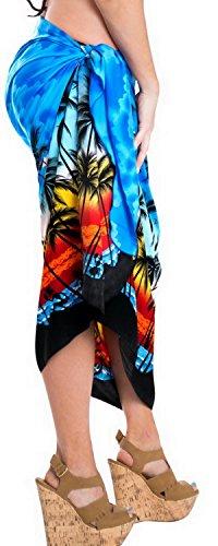 d Form Damen Sarong resort Badeanzug Badeanzug Wrap verschleiern Bikini Bademode Blau