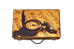 Designer Print watch box - Musical Watch - 10 compartments