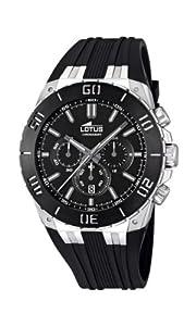 Reloj Lotus 15801/2 de cuarzo para hombre con correa de caucho, color negro de Lotus