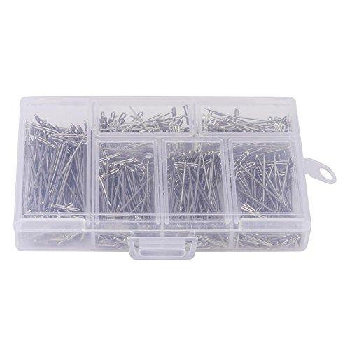 HEEPDD 450 Stücke Stahl T-förmigen Pins Groß Vernickelt DIY Styling Werkzeug Machen Fix Auf Leinwand Block Kopf für Perücken Nähen Blockieren Stricken -