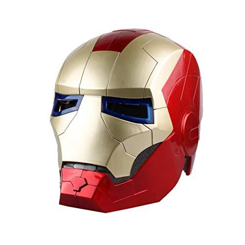 Kostüm 3 Helm Iron Mann - QWEASZER Avengers Marvel Legends Iron Man Helm Legends Series Cosplay Mask - Perfekt für Karneval und Halloween - Kostümzubehör für Erwachsene - ABS, Unisex,Iron Man-OneSize