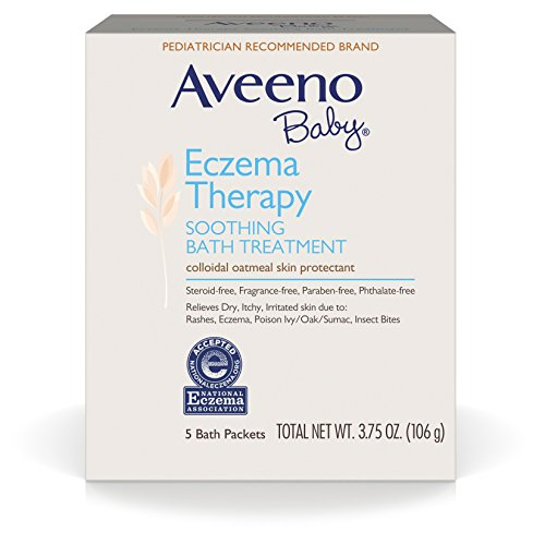 Aveeno Baby Eczema Therapy Soothing Bath Treatment, 5 Count (Pack of 2)