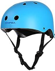 Finer Shop Escalada Ciclismo Bicicleta Bici BMX Protección Casco Equipo Seguridad - Azul / M