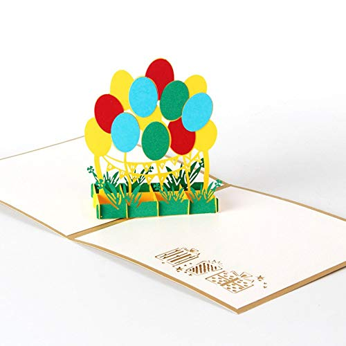 (Vazan - Creactive Papiere Grußkarten 3D-Pop-Up-Karten-Geburtstags-Jahrestag Karten Vintage-Papier Geschenkkarte convites de casamento [A])