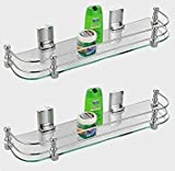 #8: Excellent Crystal Clear 20 inch Glass shelf for bathroom, bathroom shelf, glass shelf (20