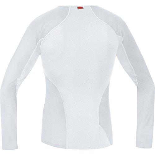 GORE RUNNING WEAR Herren Warmes Thermo-Unterzieh-Shirt, Langarm, Stretch, GORE WINDSTOPPER, ESSENTIAL BL WS Thermo Shirt long, UEWSLO Hellgrau/Weiß