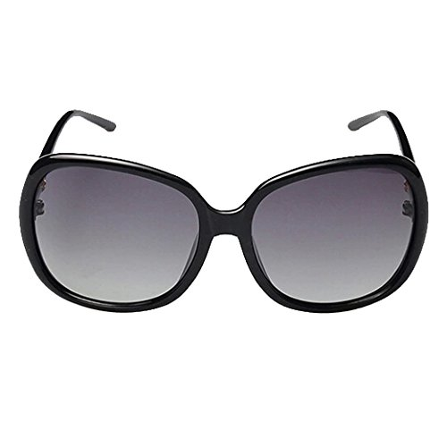 TANGDA Damen Retro Shiny Wayfarer Stil Polarisierte Kunststoff Sonnenbrille UV400 Brillenetui...