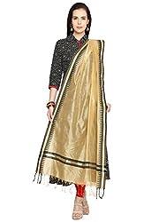 Dupatta Bazaar Womens Dupatta (DB1220_Gold_Free Size)