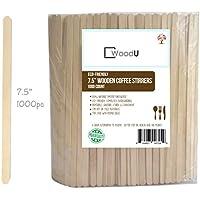 """Coffee Stir Sticks (7.5 """"1000 pcs) Round End, Eco Friendly Coffee Stirrers Wood para bebidas calientes"""