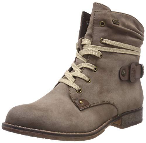 Rieker Damen 97733 Kurzschaft Stiefel, Beige (Congo/Testadimoro 64), 40 EU