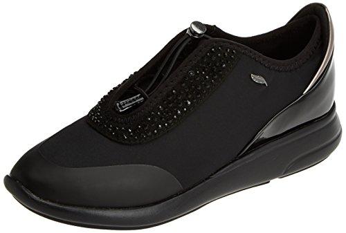 Geox d ophira e, scarpe da ginnastica basse donna, nero (black), 39 eu