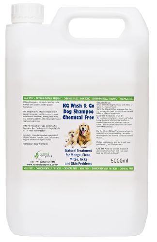 KG Wash & Go No Rinse Pet Shampoo 5000ml. Rids & Protects from Mange, Fleas, Ticks, Mites & Itchy Skin Problems… 1