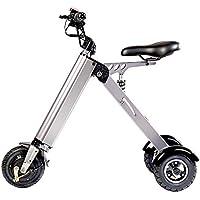 TopMate ES31 Scooter eléctrico Mini Triciclo plegable Peso 14KG con 3 Límites de velocidad 6-12-20KM / H y 3 Amortiguadores de Bicicleta | para viajes y ...