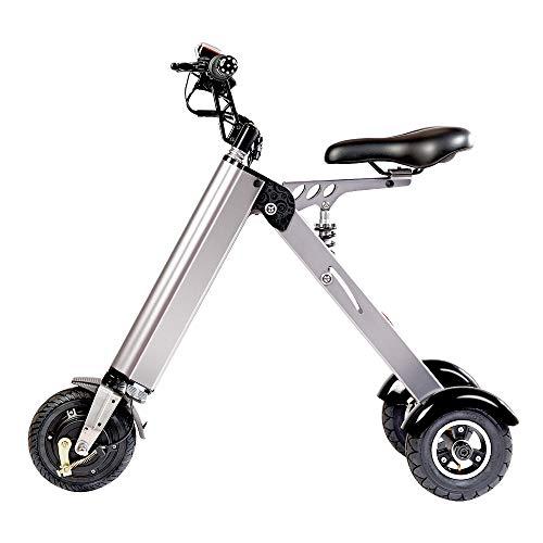 TopMate ES31 Scooter eléctrico Mini Triciclo plegable Peso 14KG con 3 Límites de velocidad 6-12-20KM / H y 3 Amortiguadores de Bicicleta | para viajes y actividades de ocio. Fácil de poner en el baúl.