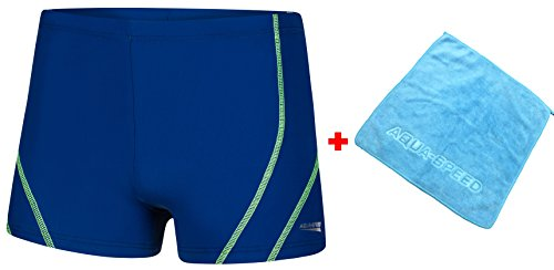 AQUA-SPEED® Herren Badehose | Schwimmhose | S-XXXL | Modern | Perfect Fit | UV-Schutz | Chlor resistent | Kordelzug 16. Blue