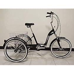 Scout Triciclo para Adulto, Cuadro de aleación, Plegable, 6Marchas, con suspensión Delantera - Negro