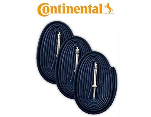 Continental Race 28 700 x 20-25c Bike Inner Tubes (Pack of 3) - Presta 60mm Long Valve (Schrader Tube Valve)