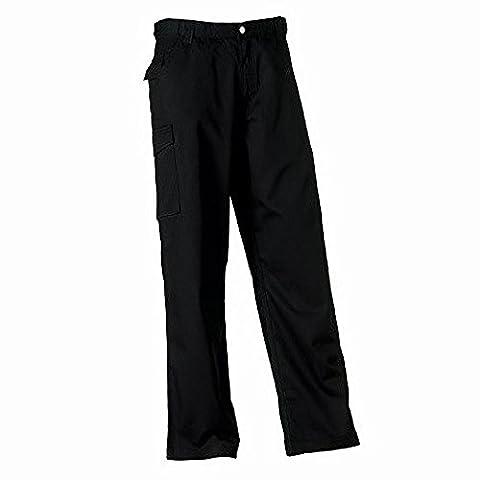 Russell Workwear Mens Polycotton Twill Trouser / Pants (Regular) (40W x Regular) (Black)