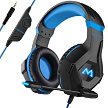 Mpow EG9 Gaming Headset, Stereo Surround Sound, RGB Light, Lightweight Computer PC Headset with Microphone Noise Canceling, Ultra Durable Gaming Headphones for PS4/PC/Xbox One/Nintendo Switch