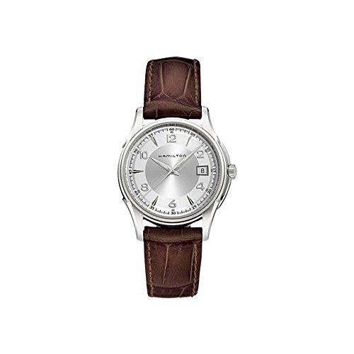 Hamilton Men's 38mm Brown Crocodile Leather Band Steel Case Swiss Quartz Silver-Tone Dial Watch H32411555