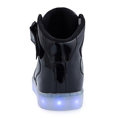 a623fd346ad179 ... FLARUT 7 Farbe USB Aufladen LED Leuchtend Leuchtschuhe Blinkschuhe  Sport Schuhe für Jungen Mädchen Kinder Schwarz ...