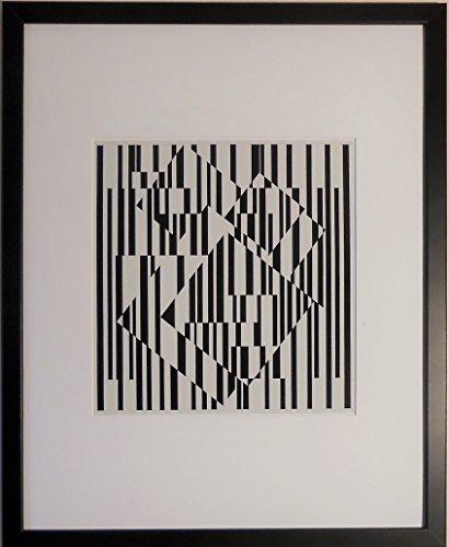 aufgezogen und gerahmt OCT OCT Kunstdruck Victor Vasarely–50,8x 40,6cm–Teil der...