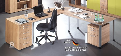 Komplett Büroeinrichtung Büro Bürosystem Büromöbel Schreibtisch Aktenregal