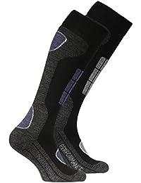 2 Paar Original VCA SKI Funktionssocken, Wintersport Socken mit Spezial Polsterung