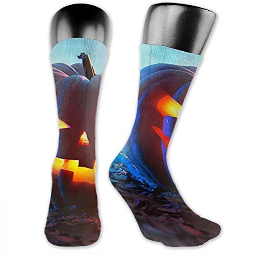Xdevrbk Halloween Pumpkins Compression Socks Crew Socks Women & Men-Best Athletic & Medical Running Flight Travel Pregnant