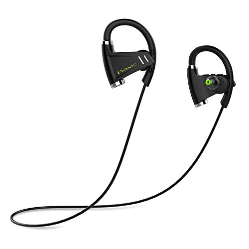 Auriculares Bluetooth, EWANTIC E3 Auriculares Bluetooth 4.1 In-ear, Cascos Deportivos Inalámbricos, Cascos Bluetooth Inalámbricos con Sonido Estéreo Llamadas a Manos Libres, para iPhone, Samsung, Sony, HUAWEI (Negro)