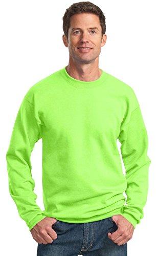 Port & Company® - Core Fleece Crewneck Sweatshirt. PC78 Neon Green L Poly Crewneck Fleece Sweatshirt