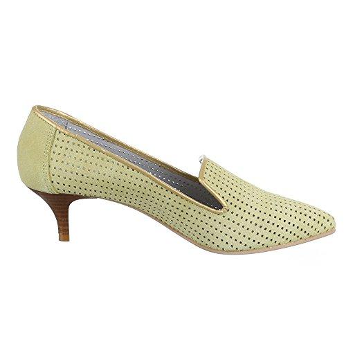 Ital-Design - Scarpe con Tacco Donna Verde (Verde chiaro)
