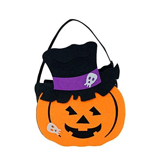KDGB Halloween DIY Kürbis Süßigkeitstasche Tote Eimer Korb Halloween Ornament Dekor Requisiten Party Festival Kinder Kinder Spaß Geschenk Taschen (3)