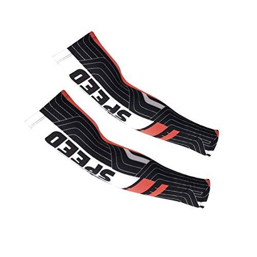 Vige Outdoor-Armmanschette für Männer und Frauen Bedecken Sie die Ärmel, um die Arme abzukühlen, die Kleidung abkühlen Radfahren Golf Laufen Fahren - Schwarz + Rot M - Schwarz-rote Ärmel