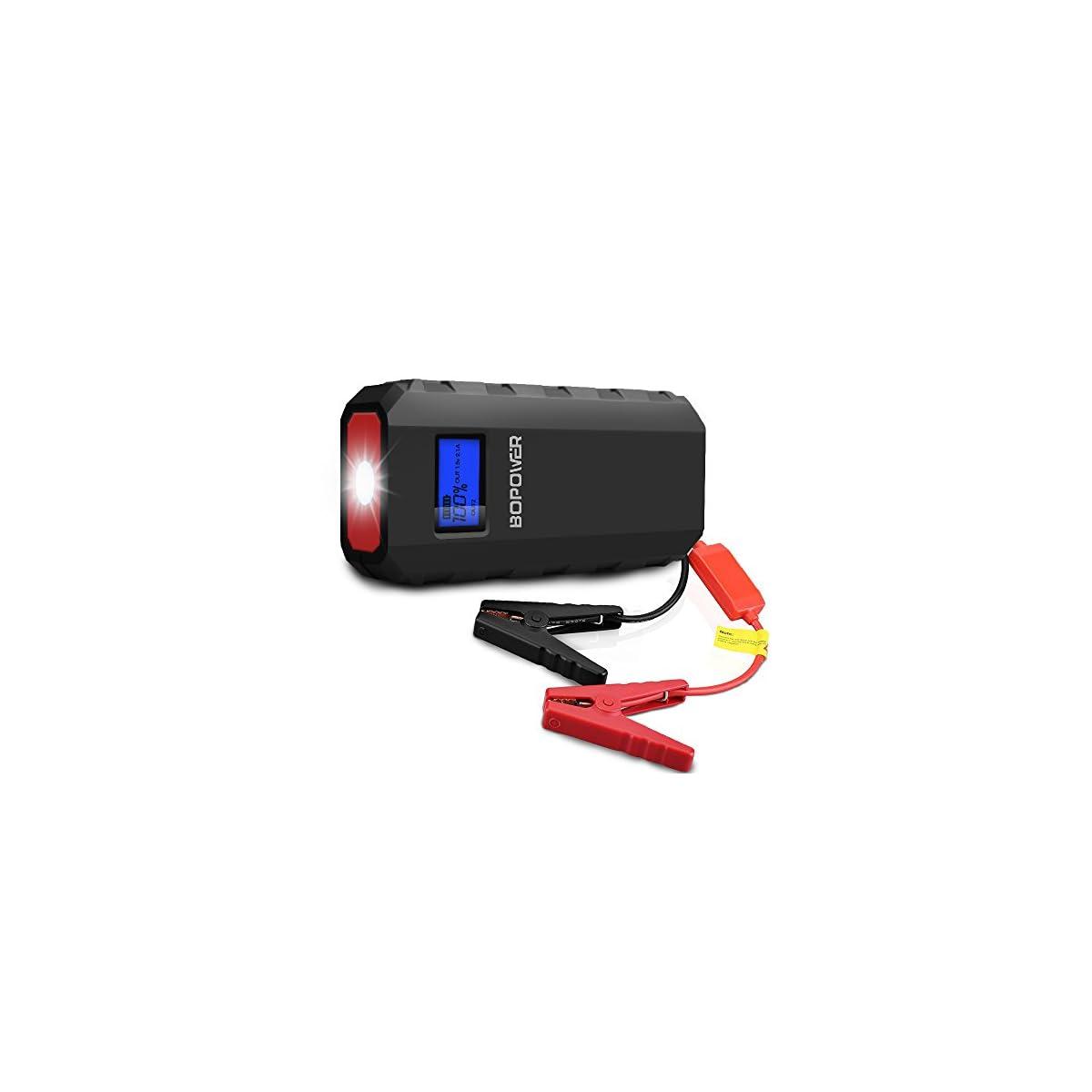 41SpBszZuhL. SS1200  - Jump Starter Batería Portátil de Emergencia para coche,GooBang Doo BOPOWER Arrancador de Emergencia para coche con la Antorcha del LED (500A, 13600mAh,Delgado, Portátil, Batería Externa Recargable, Pantalla LCD) para la Moto, Laptop, Smartphone,Tableta ect.