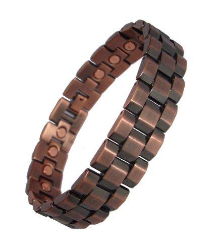 mens-chunky-link-magnetic-bracelets-copper-or-gunmetal-copper