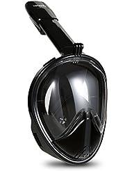 HiCool Masque de Plongée Couvert Toute la Face 180° Visible avec Support de Montage pour GoPro Xiaomi Yi Sport Caméra d'Action