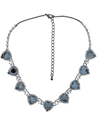 Jodie Rose 'Black Diamond' Multi Heart and Crystal Necklace