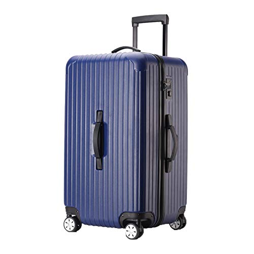 Valigia Rigida,Valigia A 4 Ruote,ABS Trolley Bagaglio A Mano Valigia Rigida Leggera,Blue-30Inch