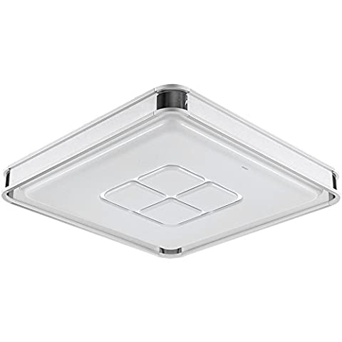 Larsure Vintage Modern Style Ceiling Lights Square living room rooms LED Ceiling light atmospheric lighting ,550*550*110 highlight mm