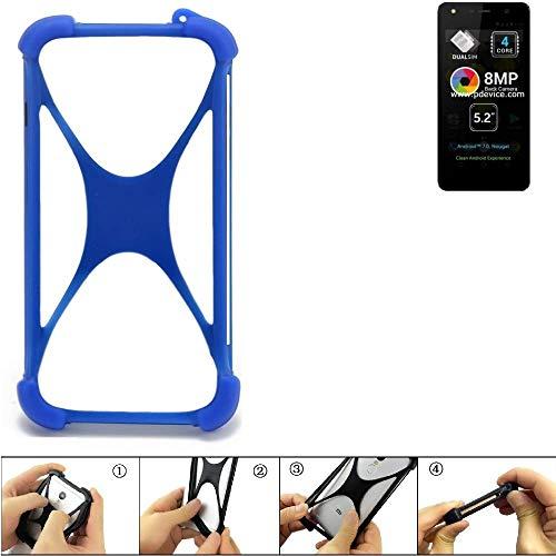 K-S-Trade Handyhülle für Allview A9 Lite Silikon Schutz Hülle Cover Case Bumper Silikoncase TPU Softcase Schutzhülle Smartphone Stoßschutz, blau (1x)