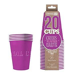 Original Cup - 20 x Vasos Américanos Papels Beer Pong 53cl - Juego para Beber - Púrpura
