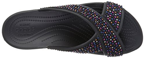 Crocs Sloane Embellished Xstrap, Tongs Femme Black/Multi
