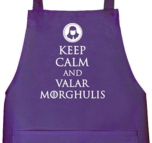 Keep Calm and Valar Morghulis, Grillen Barbecue Grill–Delantal Delantal morado